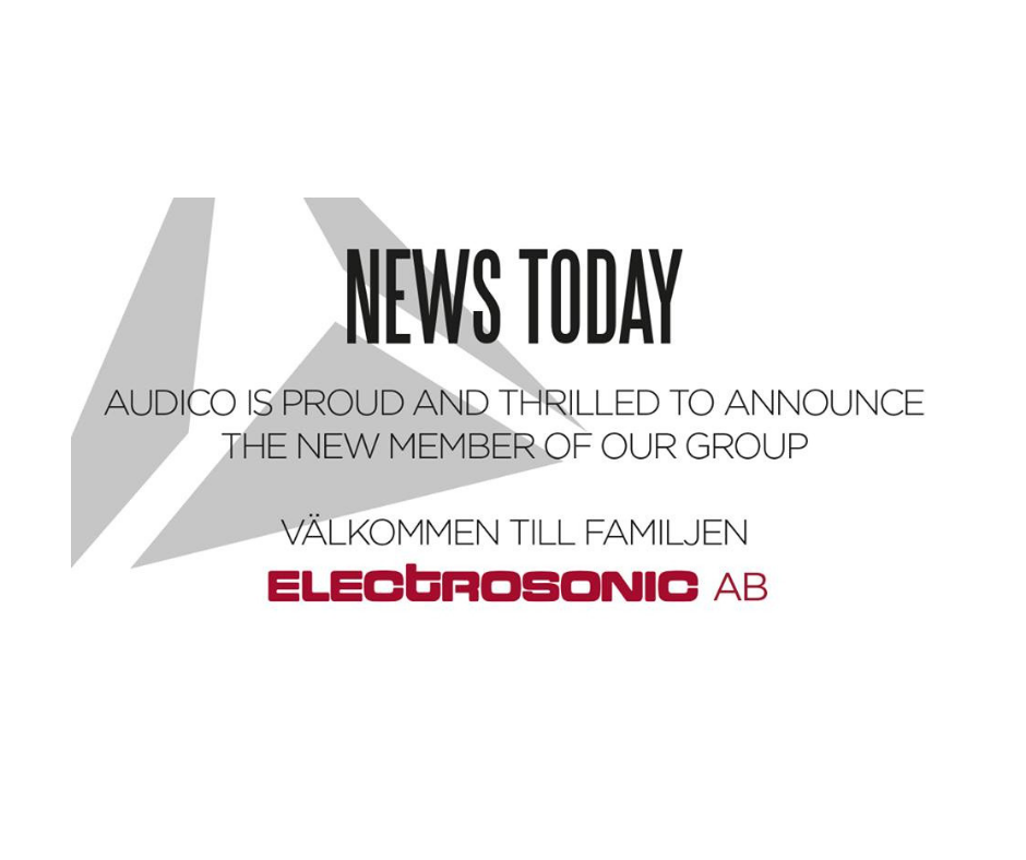 Audico acquires Electrosonic AB in Sweden