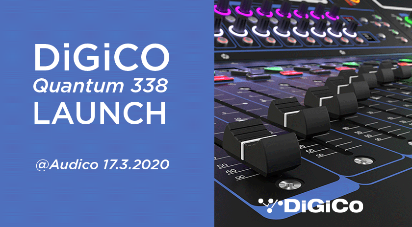 DiGiCo Quantum 338 Launch Audicolla 17.3.2020